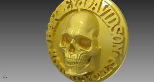 Skull Viewer Harley Davidson Skull Stl Step Iges Autodesk Inventor 3d Cad