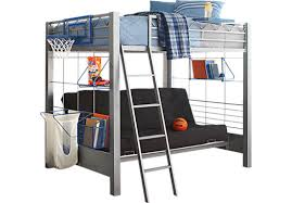build a bunk gray 4 pc full futon loft bed beds metal