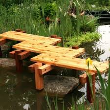 decor beautiful garden landscape using garden bridges ideas
