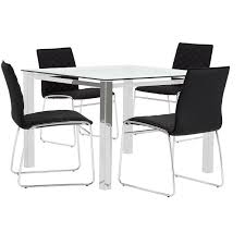 city furniture skyline black square table u0026 4 metal chairs