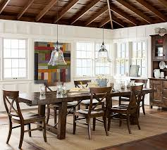 Pottery Barn Dining Room Lighting by Aaron Wood Seat Chair Pottery Barn