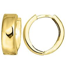 gold huggie earrings 14k yellow gold snuggable huggie earrings diameter