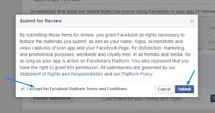 enable extended permissions in facebook app the champ