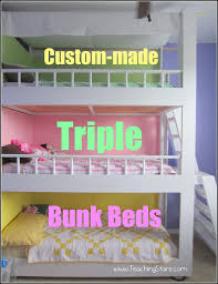 three bunk beds custom made triple bunk beds
