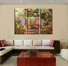 Large Wall Art Ideas by Living Room Abstract Modern 3 Piece Wall Canvas Art 3 Piece