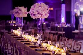 wedding table decorations purple decorating of party