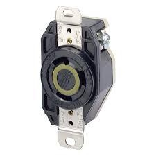 leviton 2610 30 amp 125 volt flush mounting locking receptacle