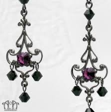 black chandelier earrings mystere black purple gunmetal chandelier earrings