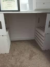 closet desk conversion closet office speedy stand up desk closet with love stephanie diy closet nook desk