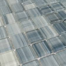 Beautiful Crystal Glass Tile For Bathroom Wall Tiles And Kitchen - Blue glass tile backsplash