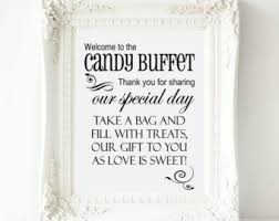candy table signs etsy