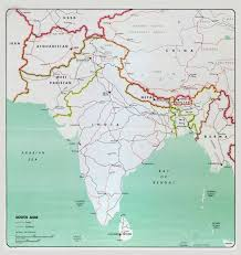 Map Of South Large Map Of South Asia With Major Cities Roads And Railroads