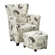 Marilyn Monroe Furniture by Brassex Club Chair And Ottoman Marilyn Monroe Print Walmart Canada