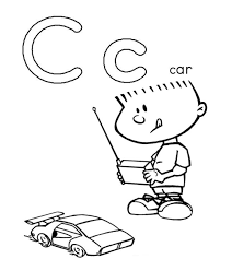 boy playing car coloring pages alphabet alphabet coloring pages