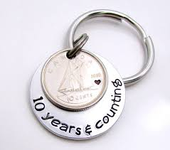 traditional 10th anniversary gifts 10 year anniversary gift canadian dime 10 year gift