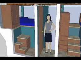 split level 5 room tiny house tiny house design sketchup youtube