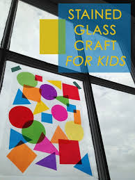 Kids Stained Glass Craft - 337 best activities for little citizens images on pinterest