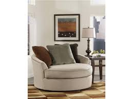 elegant cream swivel chairs for living room beside lamp shade on