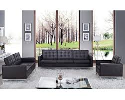 modway loft 3 piece leather sofa set my eei 862