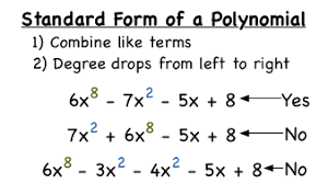 what u0027s the standard form of a polynomial virtual nerd