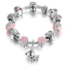 bracelet style pandora with charms images Bulldog cofolies reserved for bulldogs and pug lovers jpg