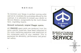 Vespa Rally 200 Owner U0027s Manual