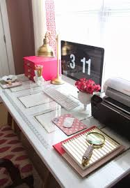 Office Decor Pinterest by Glam Decor Workspace Design Kate Spade And Glass Desk