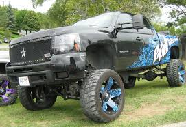 Chevy And Ford Truck Mudding - 18 ram 2500 jacked blue crazy about tires pinterest dodge