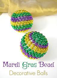 mardi gras beeds with 4 boys diy mardi gras bead decorations