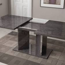 Extendable Dining Table High Gloss Dining Table Extending Grey Birch Sale