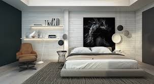 Bedroom Ideas Brick Wall Monochromatic Bedroom Home Design
