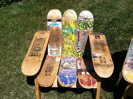 skateboard chairs buy a hand crafted skateboard deck chair made to order from the