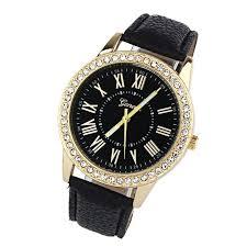 leather rhinestone bracelet images 2018 new quartz watch women roman numerals dial wristwatch women 39 s jpg