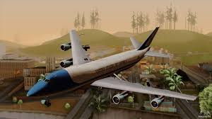boeing 747 400 airforce one for gta san andreas