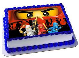 ninjago cake toppers lego ninjago edible cake topper lego ninjago by trendytreathouse
