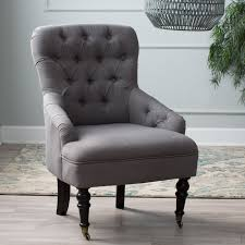 Chair Living Room by Belham Living Tatum Tufted Arm Chair With Nailheads Hayneedle