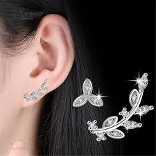earrings brands blovecoo fashion brands silver jewelry women stud earrings flowers