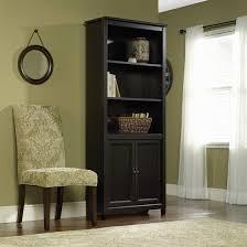 Sauder 3 Shelf Bookcase Sauder Edge Water 3 Shelf Library Bookcase With Doors Estate