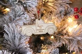 ornament vintage truck ornament baby boy ornament