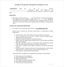 employment contract template 9 free sample example formatjob