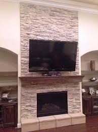 stacked stone fireplace cost crafts home