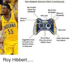 Roy Hibbert Memes - noiana 55 roy hibbert edition xbox controller box smaller player out