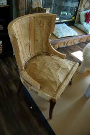 Reupholstering Armchair No Sew Full Reupholster Chair