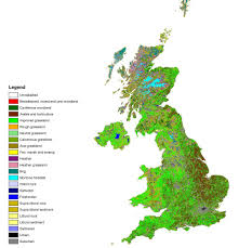 Counties In England Map by A Green And Pleasant Land Map Reveals More Than Half Of Britain