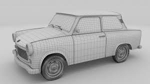 trabant trabant 601 rev 3d cgtrader