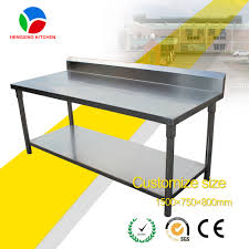 Stainless Kitchen Work Table by Commercial Kitchen Stainless Steel Working Table Metal Kitchen