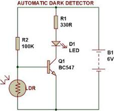 automatic night light with sensor dark light sensor using transistor buildcircuit electronics