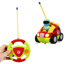 amazon com cartoon r c race car radio control toy for toddlers by