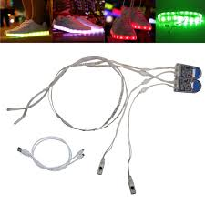 Led Strip Lights Battery Powered Waterproof Led Strip Light 1pair Usb Charging Rechargeable Battery
