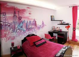 chambre ado fille moderne decoration chambre deco fille chambre fille ado new york rose